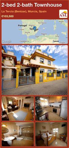 2-bed 2-bath Townhouse in La Tercia (Benizar), Murcia, Spain ►€103,500 #PropertyForSaleInSpain
