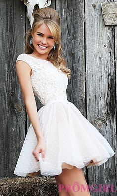Short Sleeveless Embroidered Dress by Sherri Hill at PromGirl.com