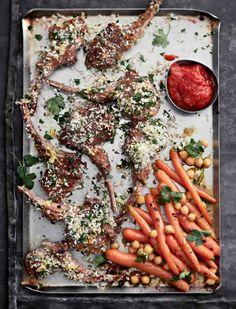 Karitsankyljykset, ajvar-kastike ja ras el hanout -porkkanat | Liha, Juhli ja nauti, Grillaus | Soppa365 Ras El Hanout, Koti, Sausage, Food And Drink, Meat, Sausages