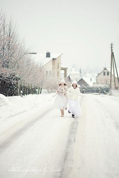 I want to run in the snow with pretty dresses and boots!