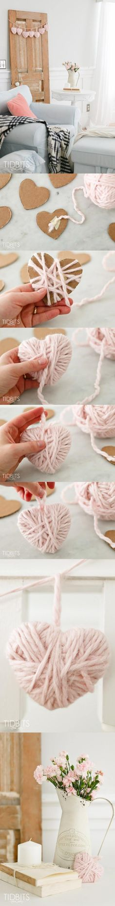 DIY Yarn Heart