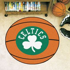 Boston Celtics Basketball Area Rug