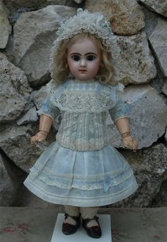 Wonderful Antique French Muslin BEBE Dress for Jumeau or Other French BEBE   eBay