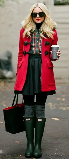 duffle coat + turtleneck | winter outfits