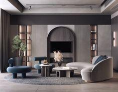 Home Living Room, Interior Design Living Room, Living Room Designs, Living Room Decor, Luxury Interior, Interior Architecture, Home Room Design, House Design, Villa Design