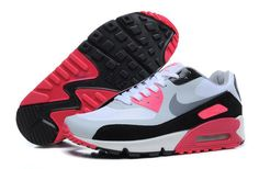 2a4b6e5f248 2013 Pink Black And White Nike Air Max 90 Womens Trainers Free Running Shoes