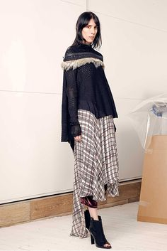 #GaryGraham #FW2015_16 #trends #furry #tail  #crochet #checkered #Catwalk #NYFW #NewYork