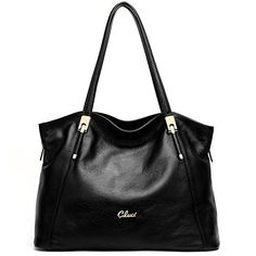 CLUCI Leather Handbags Designer Tote Satchel Shoulder Bag Purse for Women Black * Find out more about the great product at the image link.