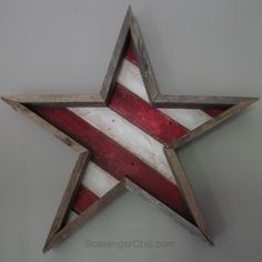 Pallet Wood Stars and Stripes