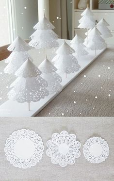 bastelideen weihnachten Winter ONEderland First Birthday Party Ideas - A Winter Wonderland party in hues of silver, white, pink and blue is perfect for a child with a winter bi Christmas Candle Decorations, Christmas Tree Crafts, Christmas Candles, Simple Christmas, Winter Christmas, Holiday Crafts, Homemade Christmas, Frozen Party Decorations, Frozen Christmas
