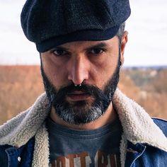 DENIM DAYS #denim #jeans #jeansjacket #flatcap #cap #itsastetson #oldschool #vintage #beard #beardgang #beardlife #beardsandtattoos #bart #barba #piercing #piercings #septum #menstyle #gentleman #rebel #rider #rugged #dapper #silverfox #sober #portrait #ootd #instadaily #0711 #stuttgart