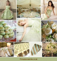 Wedding colours: Light green and gold - Primadonna Bride