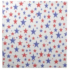 Patriotic Stars Cloth Napkins