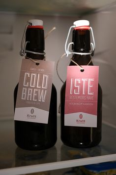Iced coffee and tea packaging by Bjørn Andreas Maurseth, via Behance