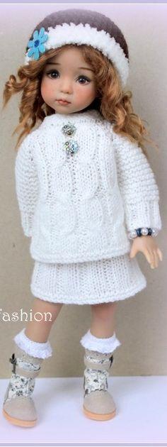 Effner Crochet Gloves, Knit Crochet, Knit Fashion, Fashion Dolls, Girl Dolls, Baby Dolls, Sasha Doll, Poppy Parker, Knitted Dolls