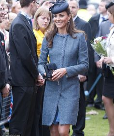 9/10 GLAMOROUS IN TWEED: Kate wore this Missoni blue tweed M dress and Rachel Trevor Morgan hat when she joined the Queen and Prince Philip during the Diamond Jubilee tour . The verdict? 'The tone-tone effect of the tweed creates a softer look and compliments Kate beautifully.'