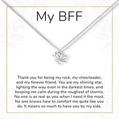 Best Friends Lotus Necklace - Perfect gift for your BFF, bestie, special friend, forever girl group, Lotus– Dear Ava Best Friend Notes, Letter To Best Friend, Short Birthday Wishes, Happy Birthday Best Friend Quotes, Message For Best Friend, Birthday Wishes For Boyfriend, Birthday Wishes Quotes, Friend Birthday Gifts, Best Friend Gifts