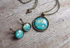 Van Gogh Almond blossom jewelry set Vincent Van by OdalisqueShop