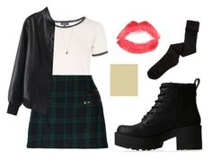 """""""Sin título #901"""" by immoverthemoon on Polyvore featuring moda, Lipstik, Topshop, W118 by Walter Baker, Chicnova Fashion, K. Bell y Vanessa Mooney"""