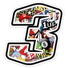 Pegatinas: Número 3 Speed Stickerbomb