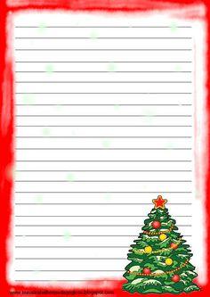 Atividade para imprimir  Modelo de papel de carta para o Natal Modelos de  papel de carta para papai noel... Para aproveitar e estimular a escrita das  ... f687ea61c36
