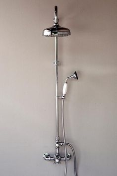 Availability: In Stock Description Exposed Thermostatic Shower Set with Handheld Shower What's not to love in this water saving shower set that is CAL green compliant. This exposed Thermostatic Hand Held Shower, Shower Arm, Shower Drain, Plumbing Tools, Plumbing Vent, Water Plumbing, Plumbing Fixtures, Plumbing Emergency, Bathroom Plumbing