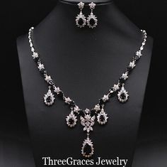 black and white wedding jewelry - Google Search