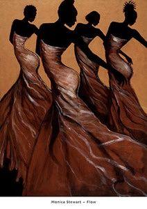 African American Art black-love
