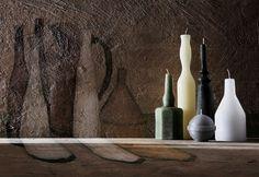 Le Morandine sono una serie di candele disegnate da Sonia Pedrazzini cherichiamano le celebri nature morte di Giorgio Morandi