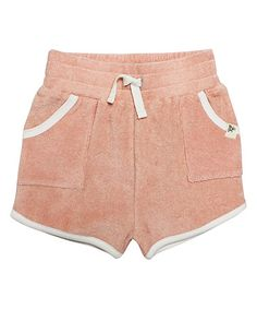 Look what I found on #zulily! Peach French Terry Organic Shorts - Infant #zulilyfinds