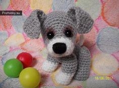 Милый щенок крючком / Вязание игрушек / ProHobby.su   Вязание игрушек спицами и крючком для начинающих, мастер классы, схемы вязания