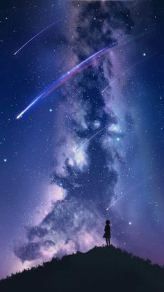 Watching the star fall #wallpaper #iphone #android #background #followme