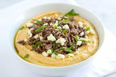 Hummus with Spiced Ground Beef, Feta and Mint (Arabic Food Recipes) Easy Hummus Recipe, Homemade Hummus, Easy Appetizer Recipes, Easy Recipes, Tahini Recipe, Dinner Recipes, Dinner Ideas, Dessert Recipes, Mint Recipes