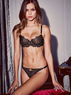 Josephine Skriver is sex bombshell for Victoria's Secret Holiday 2015 campaign. #lingerie #victoriassecret