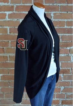 Team 44 Apparel - SEATTLE UNIVERSITY, COCOON CARDIGAN with Nailhead 'SU' Logo