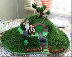 The Hobbit cake.  I was debating between Wizard of Oz and this for my birthday - I think this wins.