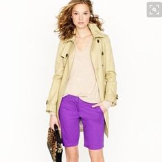 """Rich & Skinny Purple Denim Bermuda Short Purple stretch denim Bermuda shorts from Rich and Skinny. Super comfy and a cute seasonal update for spring. 7.5"""" rise, 14"""" inseam, and 14"""" laying flat across the waist. NWT retail, offers only through the offer button. The first photo is not the exact short, only similar cut/color. Only included for styling purposes. Rich & Skinny Shorts Bermudas"""