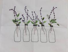 "336 Likes, 12 Comments - 자수하는CHOI(I'm korean) (@thtymom) on Instagram: ""라벤더일까? 보라색꽃인데~ #프랑스자수 #소품 #라벤더#보라색#embroidery #needlework #flower # ribbon"""