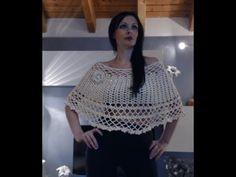 MANTELLINA ELEGANTISSIMA ALL'UNCINETTO 2 di 2 Crochet Tote, Crochet Poncho, Crochet Shawls And Wraps, Crochet Videos, Learn To Crochet, Crochet Clothes, Free Pattern, Crochet Patterns, Knitting