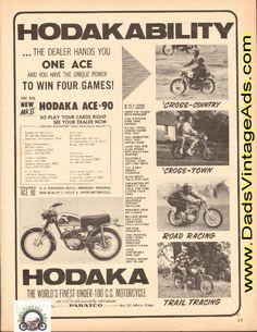 1965 Hodaka Ace 90 – American designed 2-cycle, 4-speed motorcycle