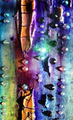 Lienzo abstracto Díptico de pintura técnica mixta por ABYSSIMO