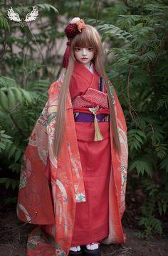 [鬼契人型]1/2大人形女娃-山茶(2分BJD娃娃日本和服SD娃娃)-淘宝网