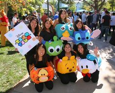"Tsum tsums are just too cute. ""See the Best Halloween Costumes From Walt Disney Imagineering"""