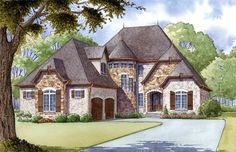 French Country House Plan 82400 will provide your family with a generous 2,979 square feet of living space with 4 bedrooms and 3.5 bathrooms. Are you tired of modern and traditional architecture? You will find no such boredom with this lovely design. Read more from our latest blog: http://blog.familyhomeplans.com/2015/08/new-french-country-house-plan/