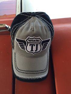 Grey Baseball Cap with Travelin Jonez Logo Patch