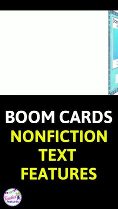 This Boom Cards reading deck contains 28 Nonfiction Text Features digital task cards with an ocean theme. Familiarizing students with nonfiction text features they may encounter(captions, diagrams, subtitles, headings, glossary, index, italics, maps, timelines...) improves reading comprehension skills. All answers movable! #DistanceLearningTpT #BoomCardsElementary #BoomCardsReading #TeacherFeatures #ReadingComprehension #ReadingStrategies #NonfictionTextFeatures #Homeschool #2ndgrade #3rdGrade