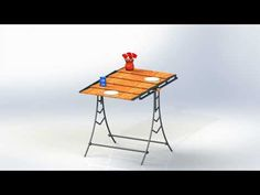 Urbana Incredible Convertible Dining Table - YouTube Table Shelves, Table Plans, Picnic Table, Drafting Desk, Convertible, Dining Table, Shelf, Furniture, Design