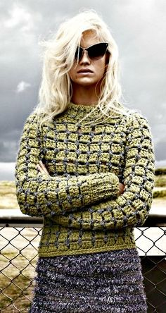 marc jacobs style crochet sweater