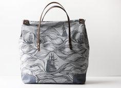 Organic Cotton Weekend Bag by jennarosehandmade on Etsy