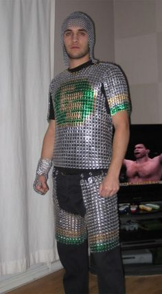 Chain Mail Made From Beer Can Tabs